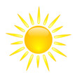 Sun Icon (sunny spells clouds weather forecast symbols icons)