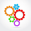 gear infographic abstract background