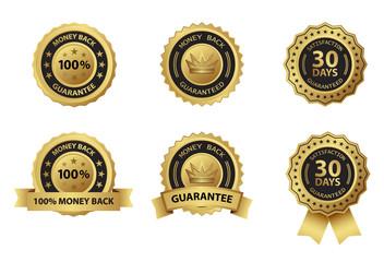 money back guarantee badge and  label set