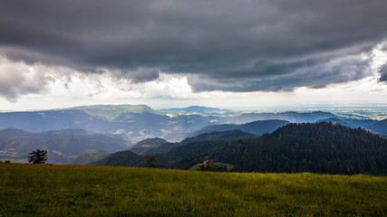 Dark Rain clouds over the Black Forrest