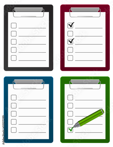 checklist with pen icon