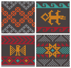 Traditional andean knitting patterns
