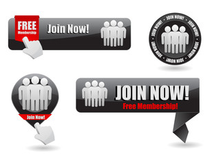 join now web button and banner