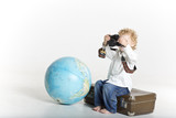 Young traveling photographer