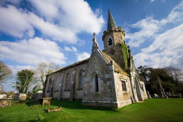 Ancient abandoned church and cemetery in Cork County Ireland