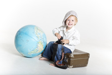 Smiling young traveler