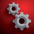 Cogwheel gear mechanism vector settings icon