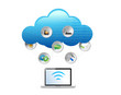 cloud computing technology concept illustration