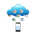cloud computing technology concept illustration