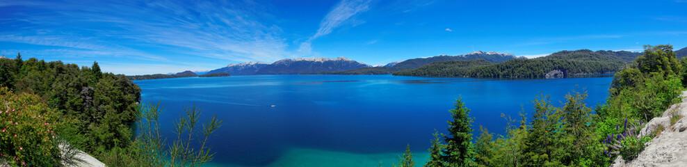 Panoramic view of Nahuel Huapi Lake, near Bariloche, Argentina