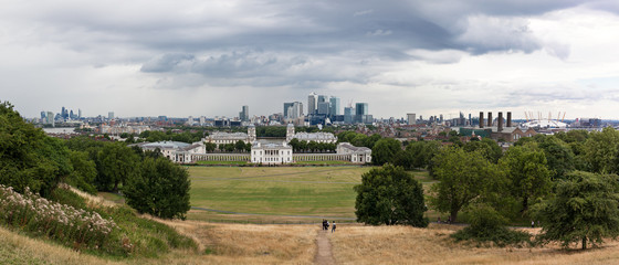 Panorama looking over Greenwich