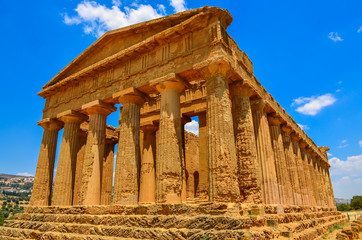 Ruins of ancient temple in Agrigento, Sicily