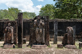Statues in ancient temple, Polonnaruwa, Sri Lanka.