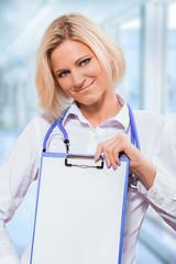 a friendly female doctor