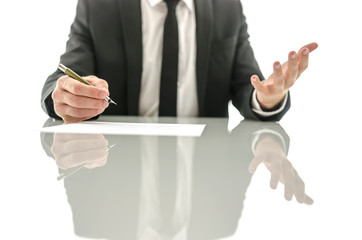 Frustrated gesture of a businessman
