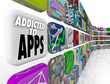 Addicted to Apps Words Mobile Software Tile Display