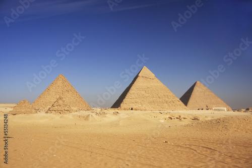 Poster Egypte Pyramids of Giza, Cairo