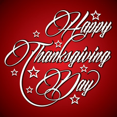 Creative design for Happy Thanksgiving Day