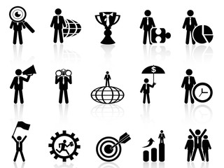 business metaphor icons set