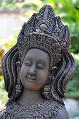 Apsara figures, celestial dancers decorated in garden