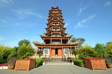 Wooden Pagoda Temple in Zhangye City,China