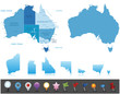 Australia - highly detailed map.Layers used. - 55136874