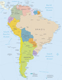 South America-highly detailed map.Layers used.