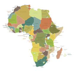 Africa-highly detailed map.Layers used.
