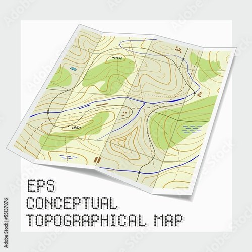 Conceptual topographical map