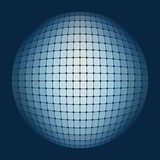 Blue ball of pixel