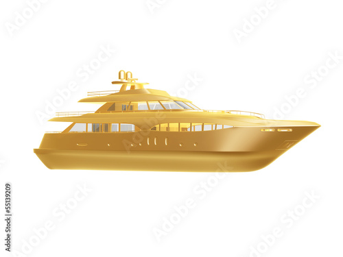 golden yacht