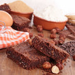 brownies and ingredients