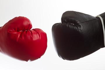 Rot gegen Schwarz
