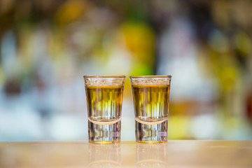 Pair of Anaconda shots on a bar