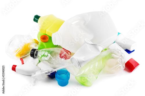 Leinwandbild Motiv Plastikmüll
