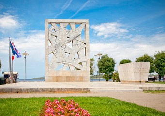 War memorial on seaside square. Rovinj