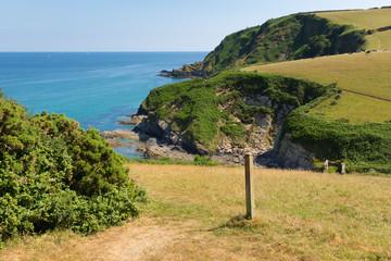 South West Coast Path from Pentewan towards Mevagissey Cornwall