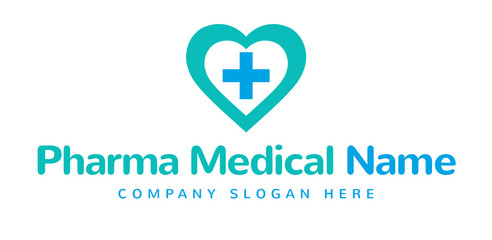 Pharma Medical Logo Symbol Name Concept