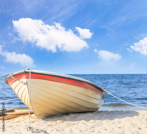 canvas print picture Fischkutter Am Strand (III)