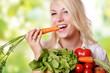 canvas print picture - gesund ernähren mit Gemüse