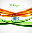 Shiny indian flag tricolor vector design art illustration