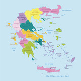 Greece -highly detailed map.Layers used.