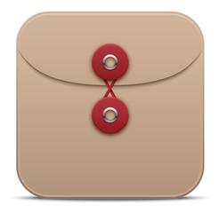 Vector manila envelope icon