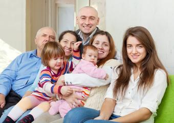 Happy three generations family