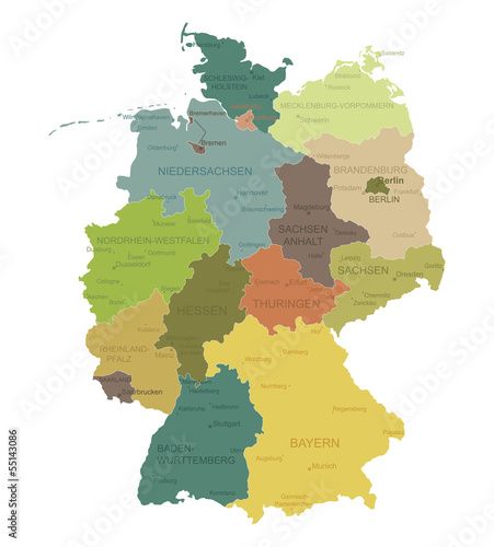 Germany-highly detailed map.Layers used.