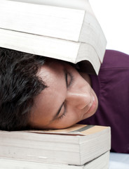 Sleeping with Head Between the Books