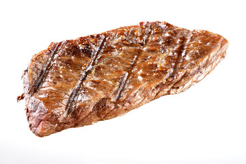 Grilled Beef Steak Isolated