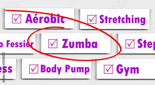 Etiquette Choix Sport Fitness : Zumba