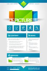 Vorlage Homepage mit Bilder Vorschau und News Bereich