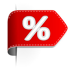 Etikett Prozent rot